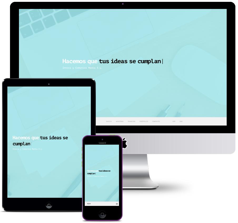 Web for communication company