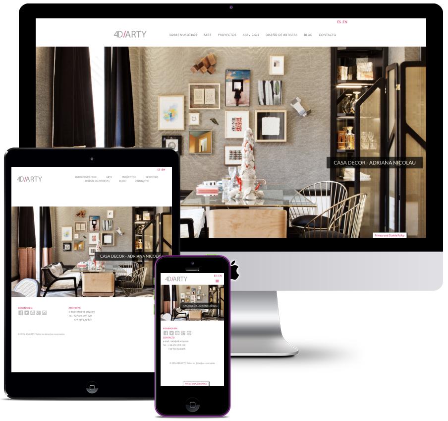 Web for interior design company