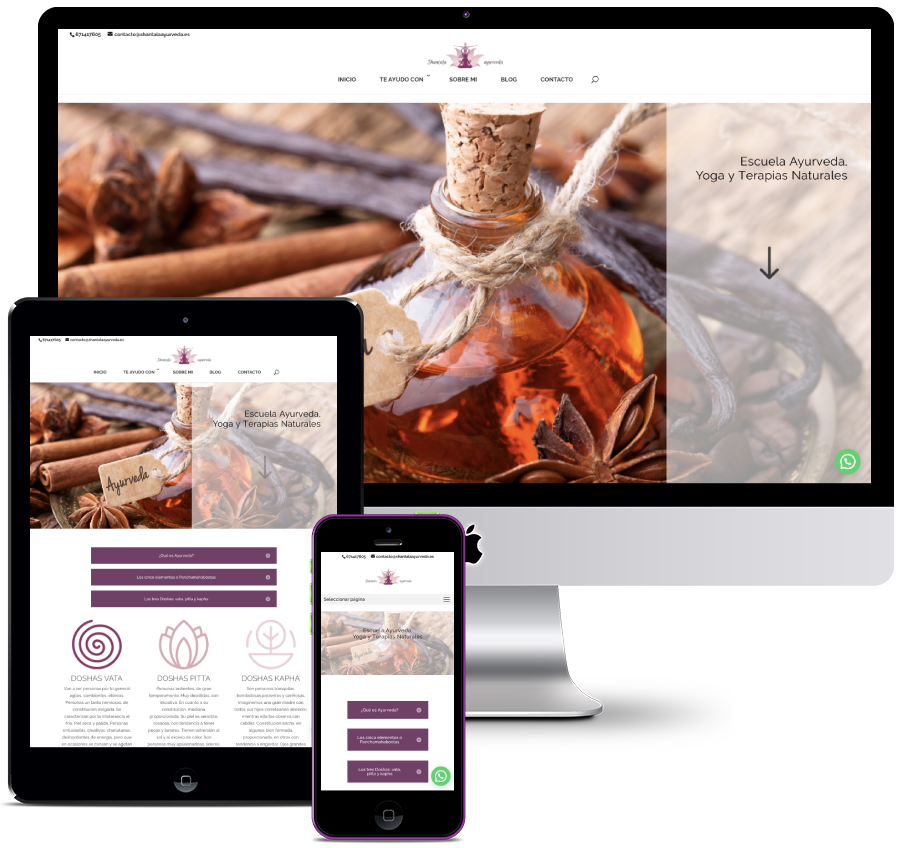 Website for a Yoga and Natural Therapies Company