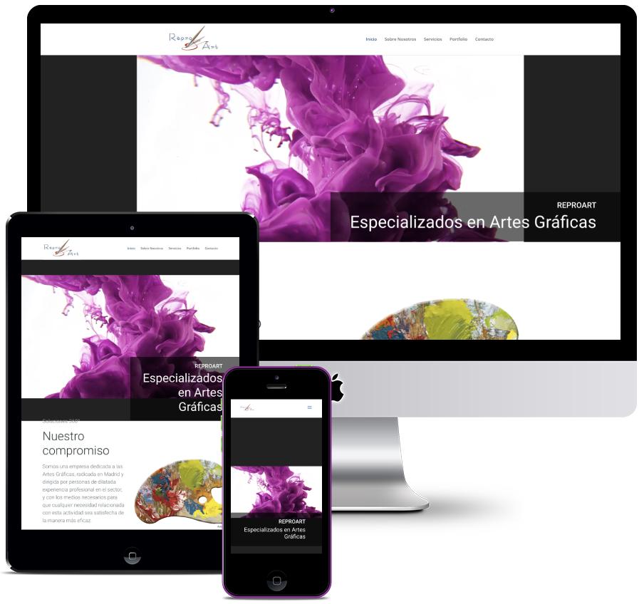 Web for a Graphic Arts company