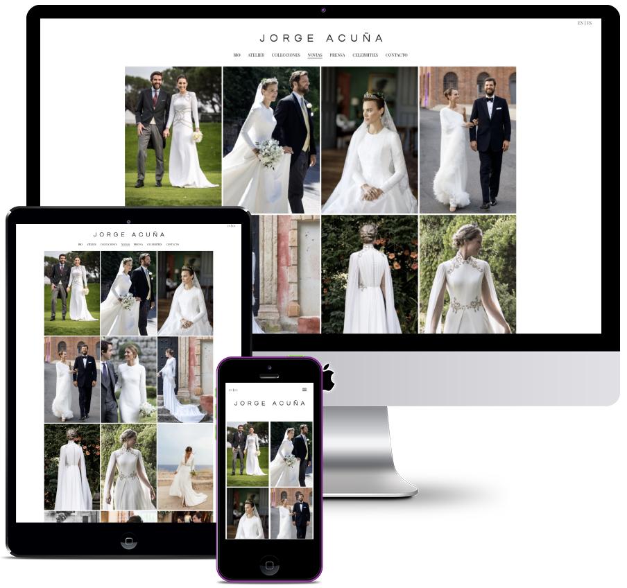 Web for haute couture fashion designer