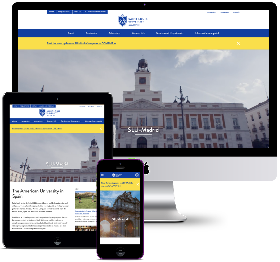 Website for an American University in Spain