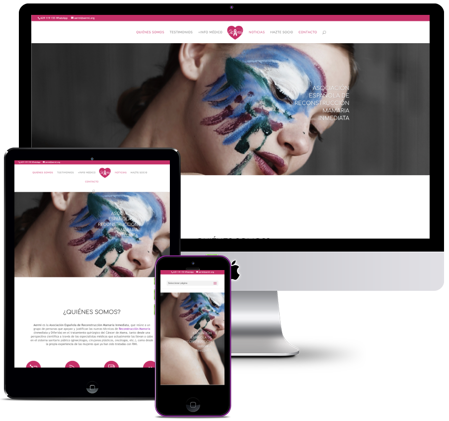 Web for the Spanish association of immediate breast reconstruction