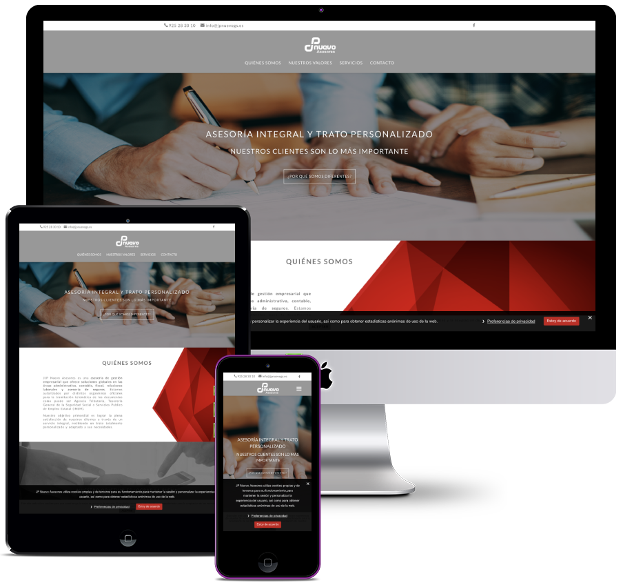 Web for a consulting firm