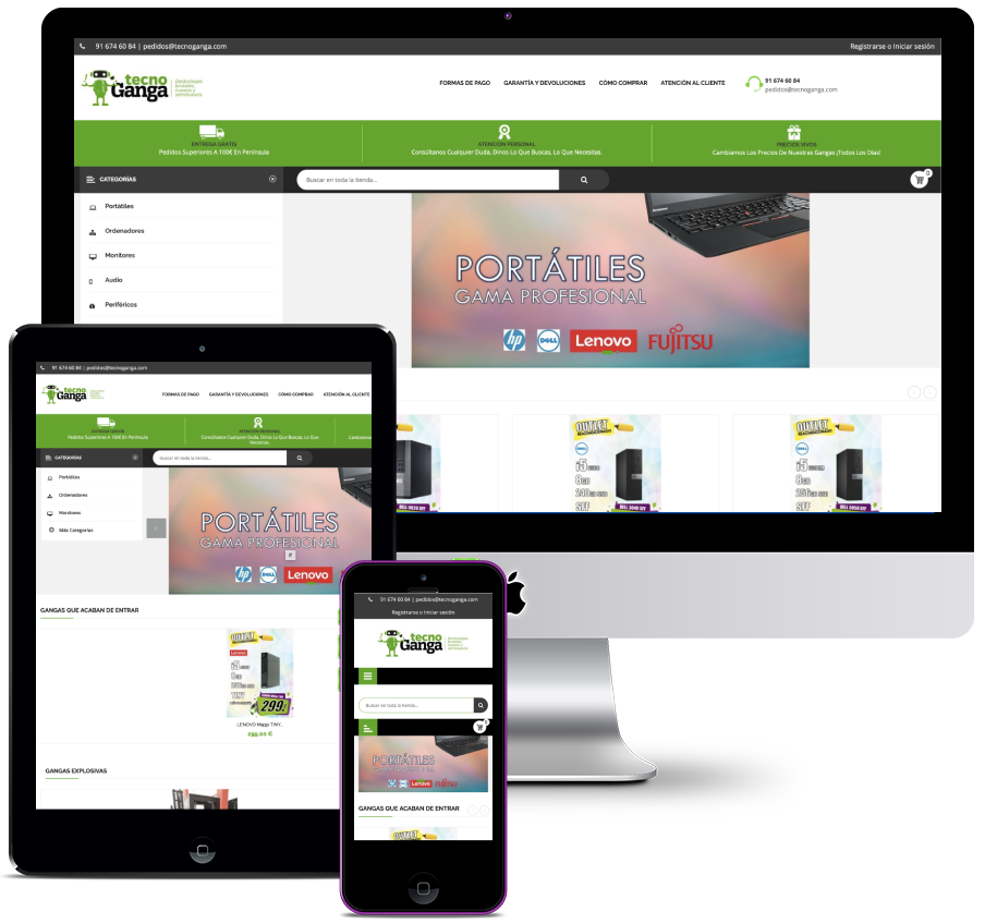 Online store for technology sales company