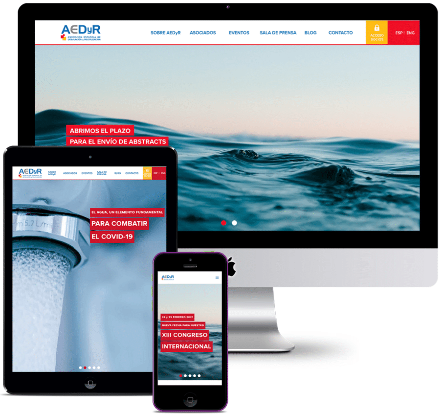 WEBSITE FOR THE SPANISH DESALINATION AND REUSE ASSOCIATION