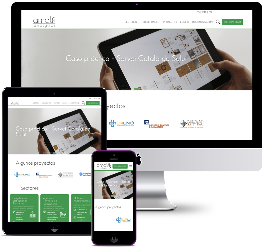 Informative website for Big Data company