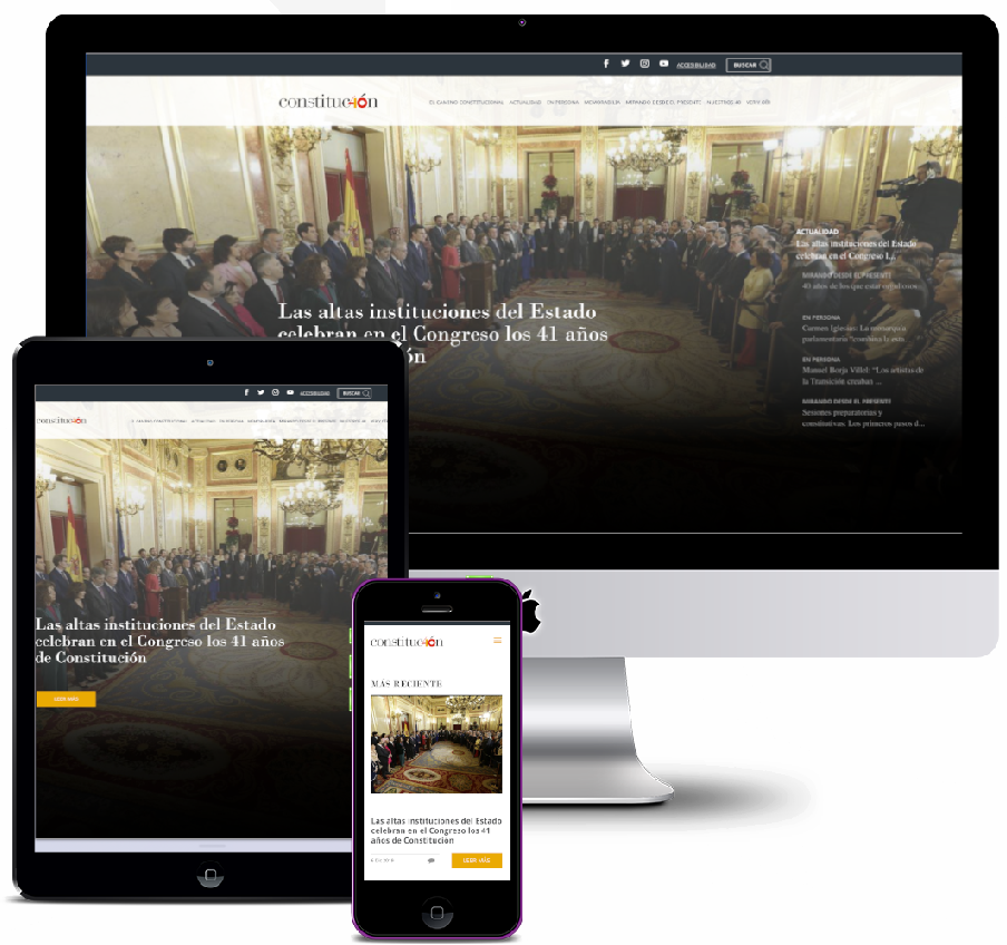 Website on the occasion of the anniversary of the Spanish Constitution