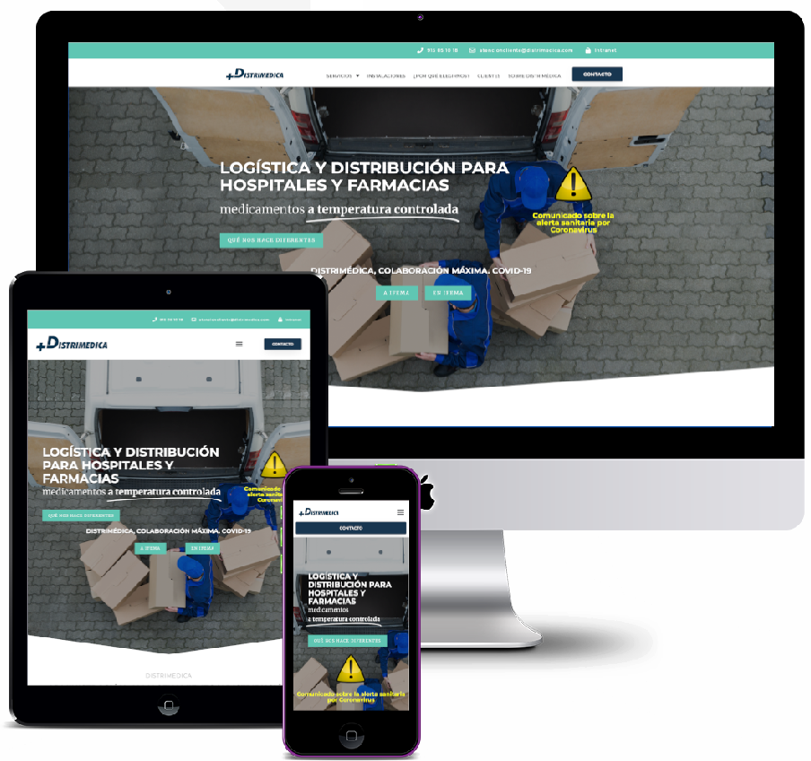 Logistics and distribution website for pharmacies