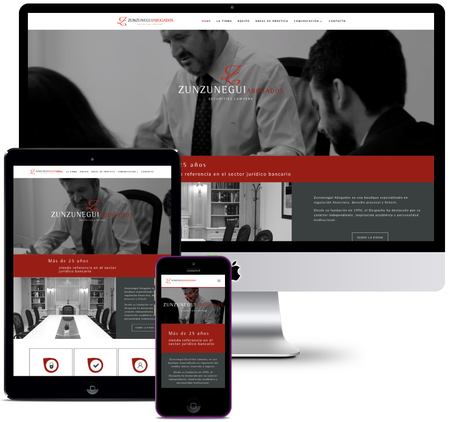 Informative website for a law firm