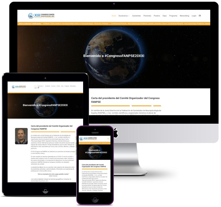 Website for digital streaming event