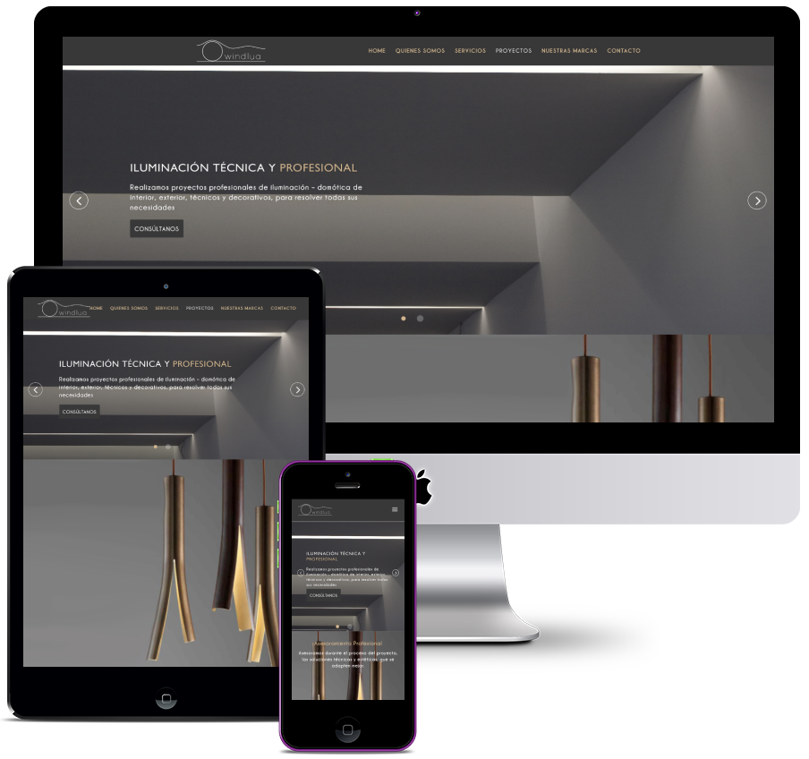 Website for project company and lighting and home automation works
