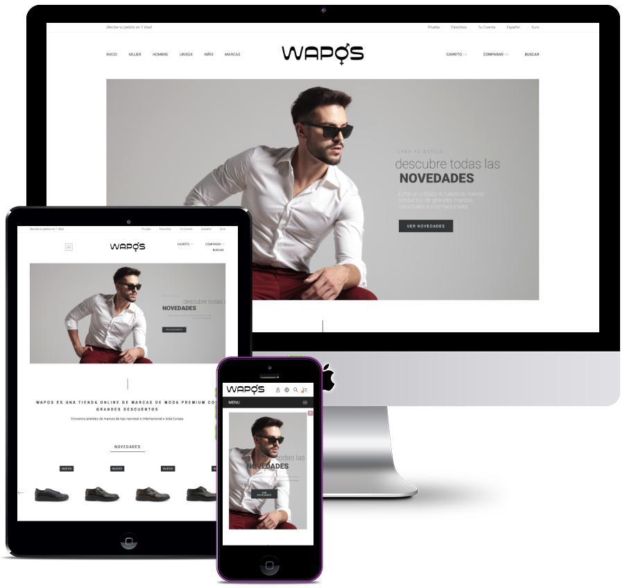 Rediseño de tienda online de Moda Outlet en Prestashop